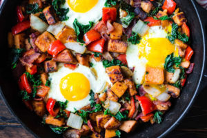 easy tomato and chorizo hash