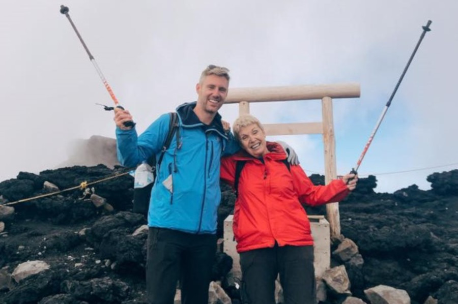 maura ward on mount fuji