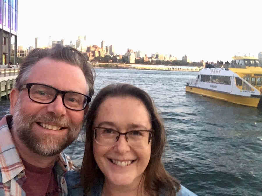 Heidi Renton with husband