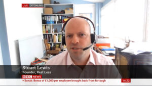 stuart lewis of rest less on bbc