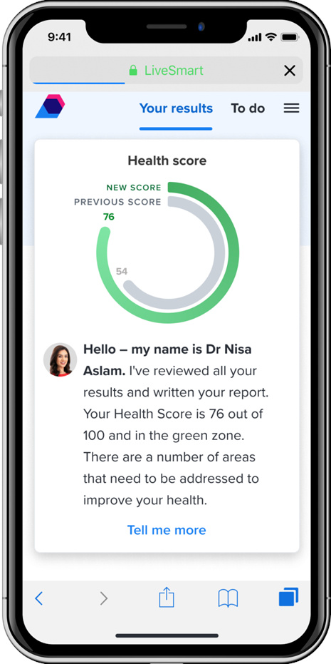 LiveSmart Health Assessment